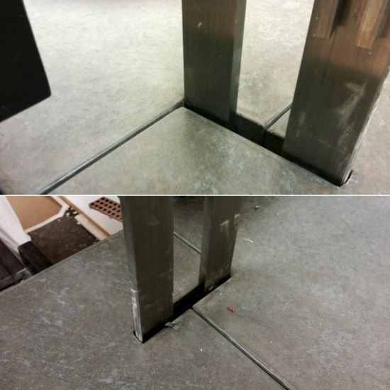 modern stairs - landings with precast concrete inserts