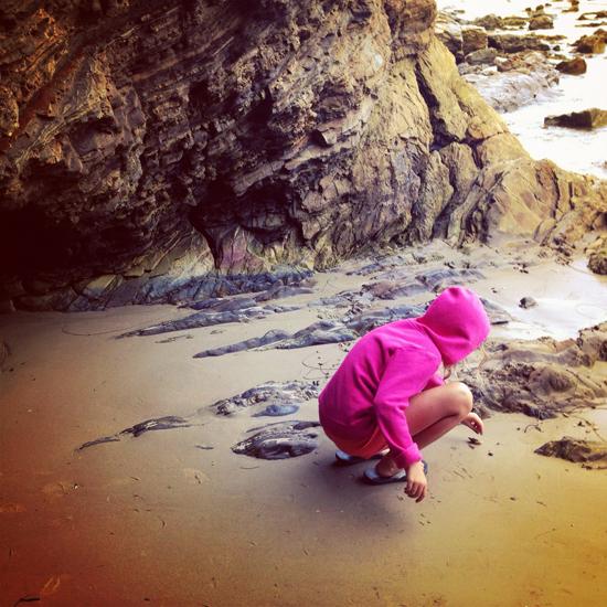 Kate exploring at the beach
