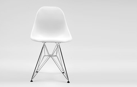 Eames Molded Plastic Side Chair with Wire Base knockoff