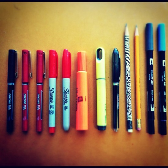 an architects' pens