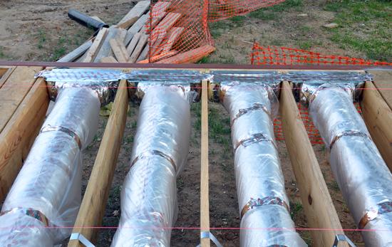 closeup look at perimeter floor registers at cantilevers