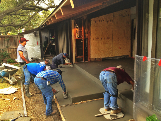 finishing the concrete