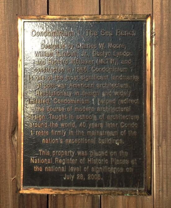 Condominium One at Sea Ranch Historic Register of Historic Places
