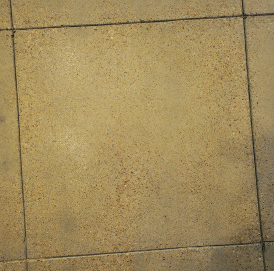 Concrete Grinding - most of the color is removed