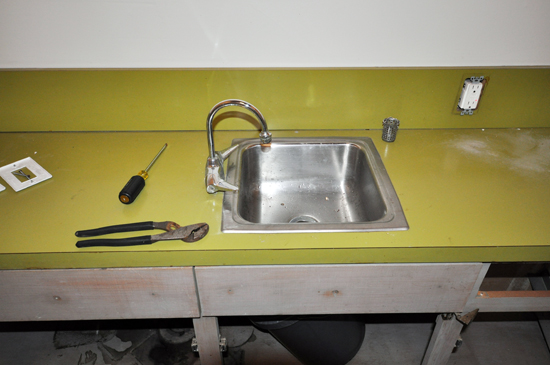 countertop and sink demolition