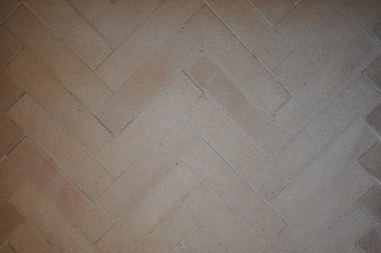 Fireplace brick herringbone pattern