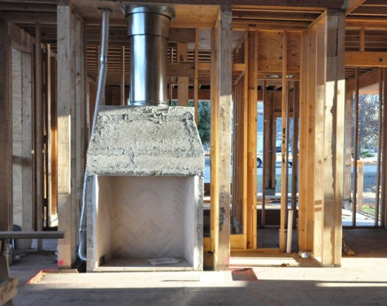 Masonry fireplaces cottonwood modern life of an architect for Isokern fireplace inserts