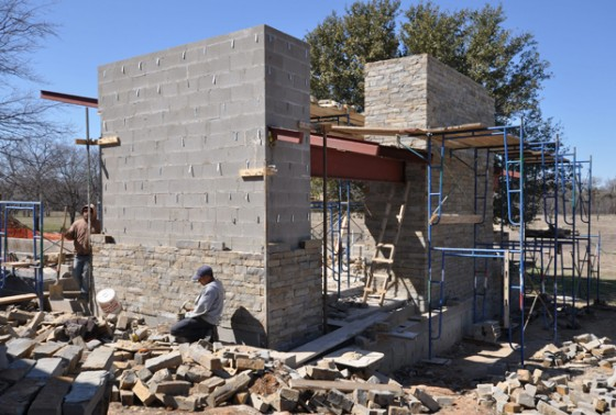 Cottonwood Modern - Pavilion stone work
