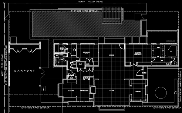 Borson House and Site plan