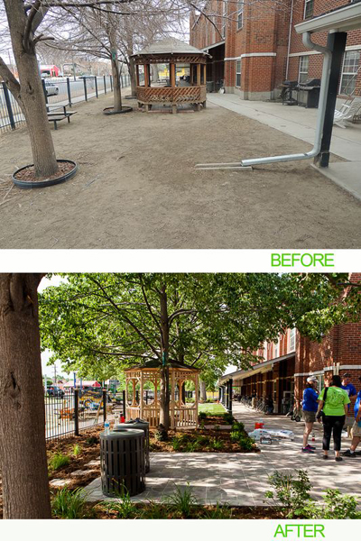 "AEC Cares Denver 2012 - Before and After ""Exterior Landscaping"""