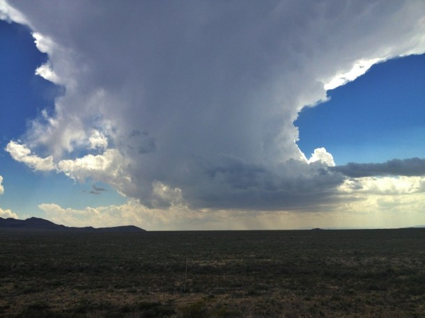 Big Bend National State Park storm cloud