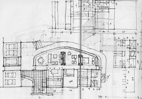 Architect Michael Malone design sketch