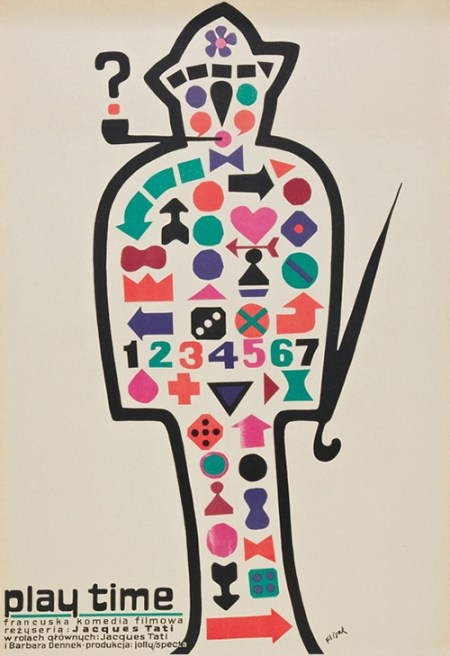 Jacques Tati Playtime movie poster