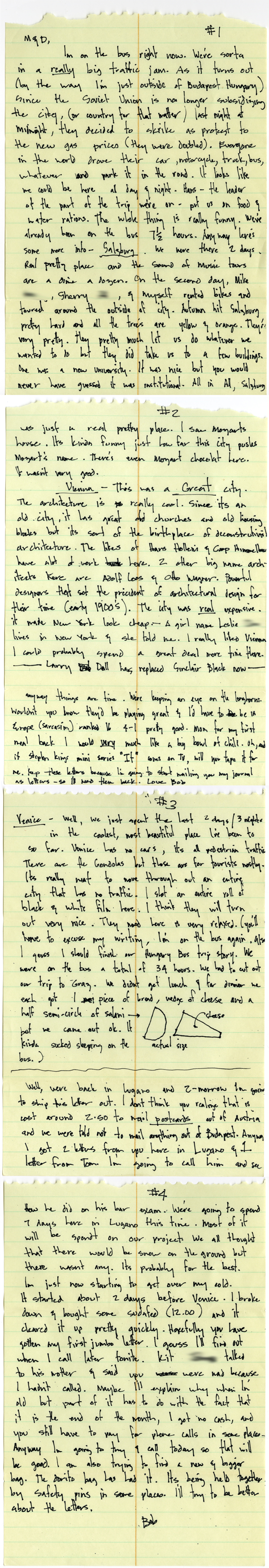 Bob Borson letter from Europe