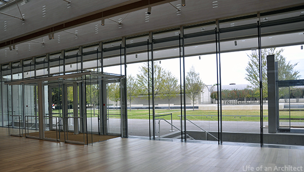 Renzo Piano Kimbell Museum Front Entry Glass