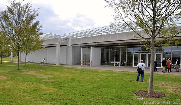 Renzo Piano Kimbell Museum Front Exterior
