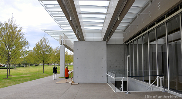 Renzo Piano Kimbell Museum Roof at Entry