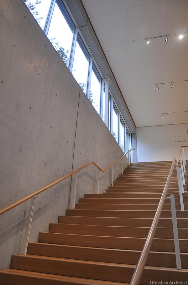 Renzo Piano Kimbell Museum interior stairwell
