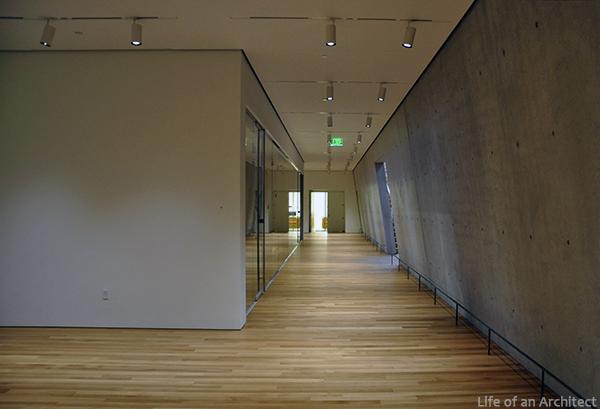 Renzo Piano Kimbell Museum lower level hallway