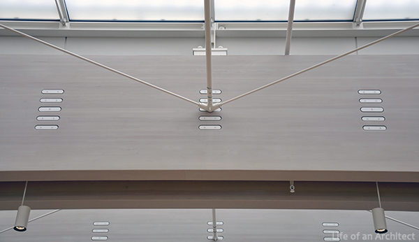 Renzo Piano Kimbell Museum roof beam at entry