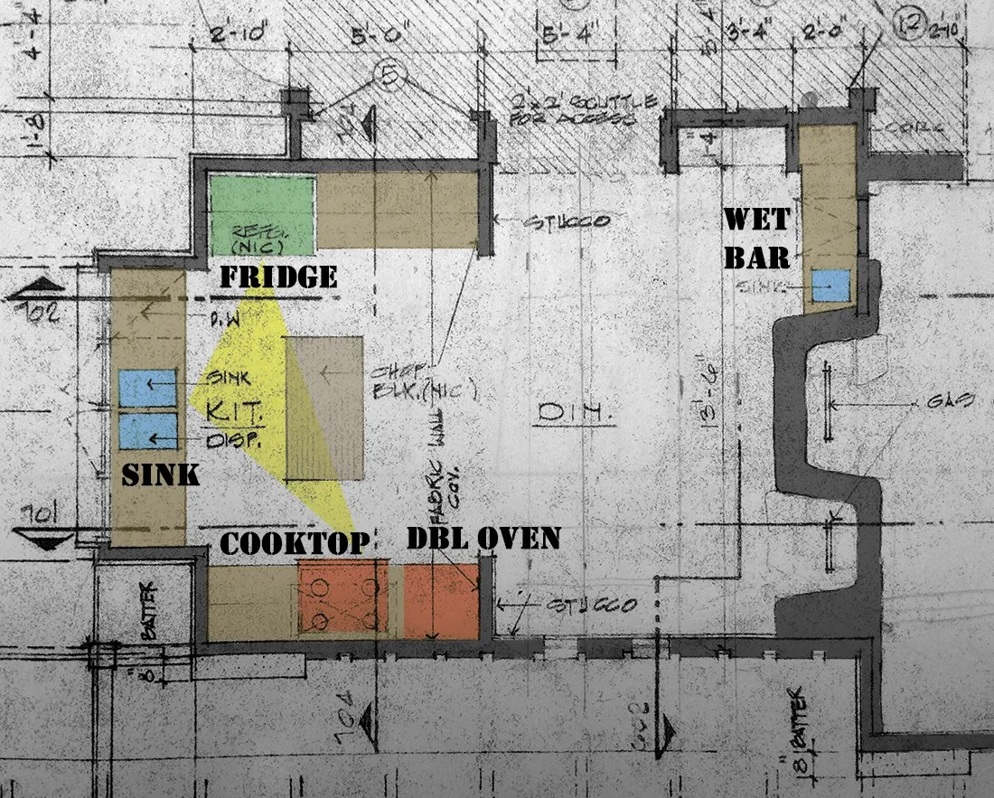 Bob Borson existing kitchen plan