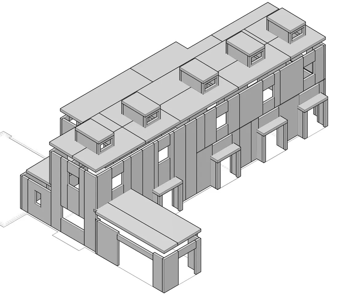 CHouse Modern SIP 3D shop drawing