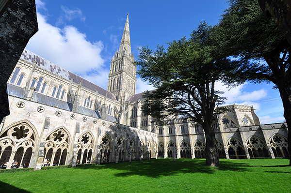 Salisbury Cathedral Interior Courtyard