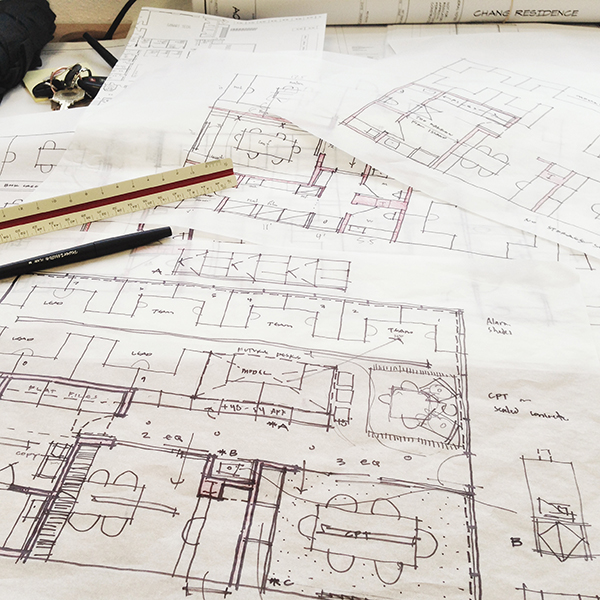 Architectural Sketch plan conversation