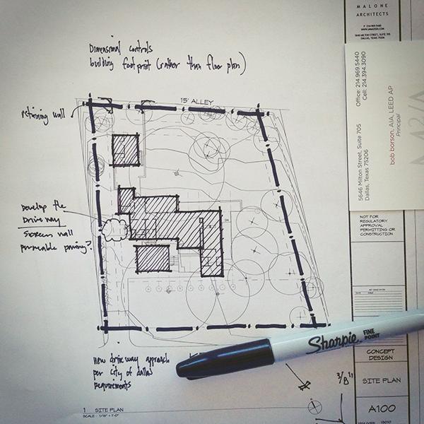 Architectural Sketch Site Plan Line Weight