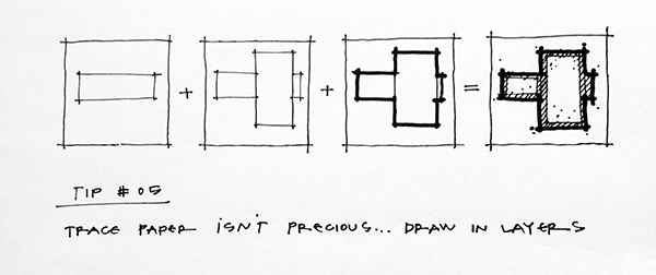 Architectural Sketching Tip 05