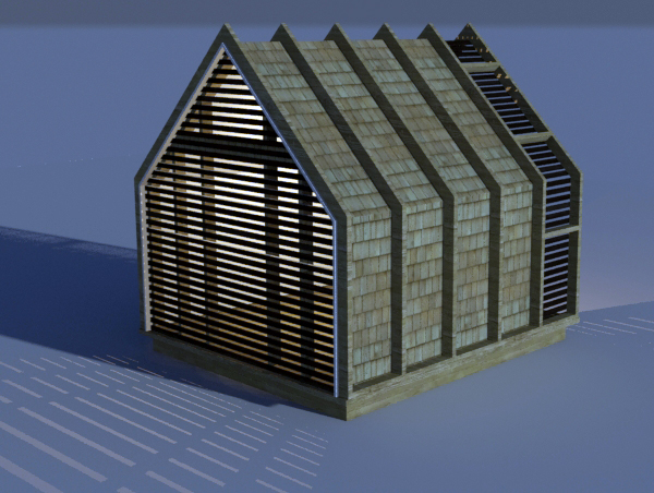 Lantern Playhouse Rendered Rear Elevation