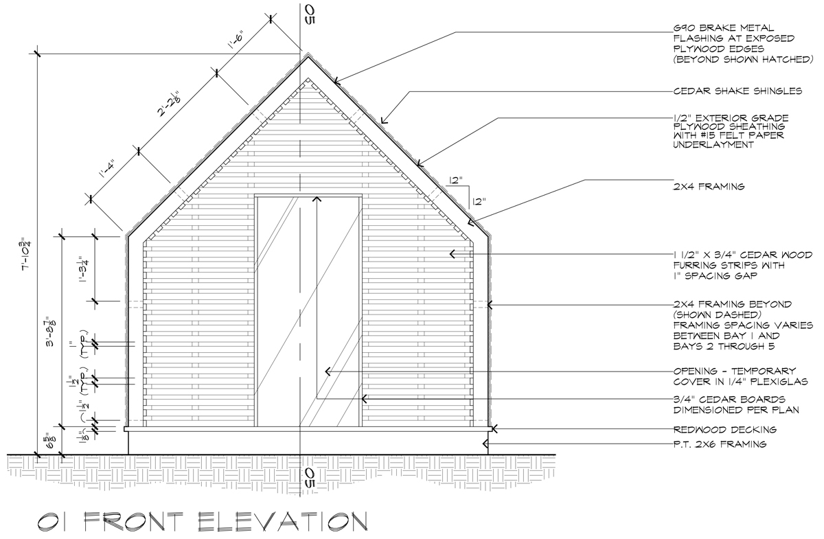 The lantern house construction drawings life of an architect lantern playhouse 01 front elevation ccuart Images
