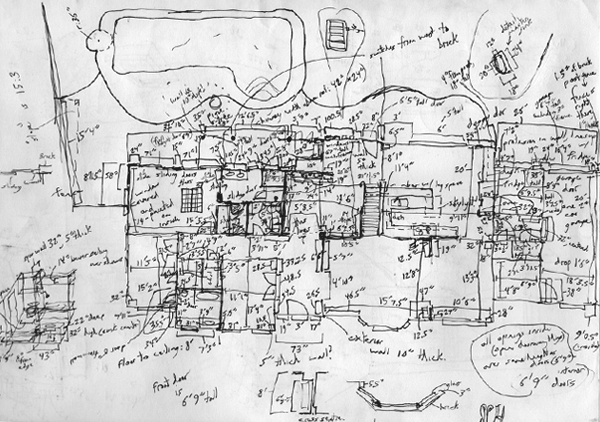 House As-Built Measurements Drawing