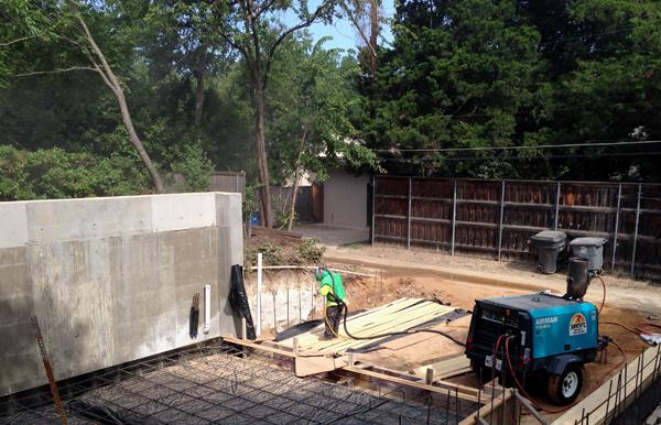 sandblasting wood for Board-formed concrete