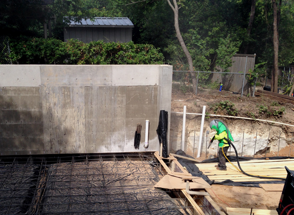 sandblasting wood for Board-formed concrete