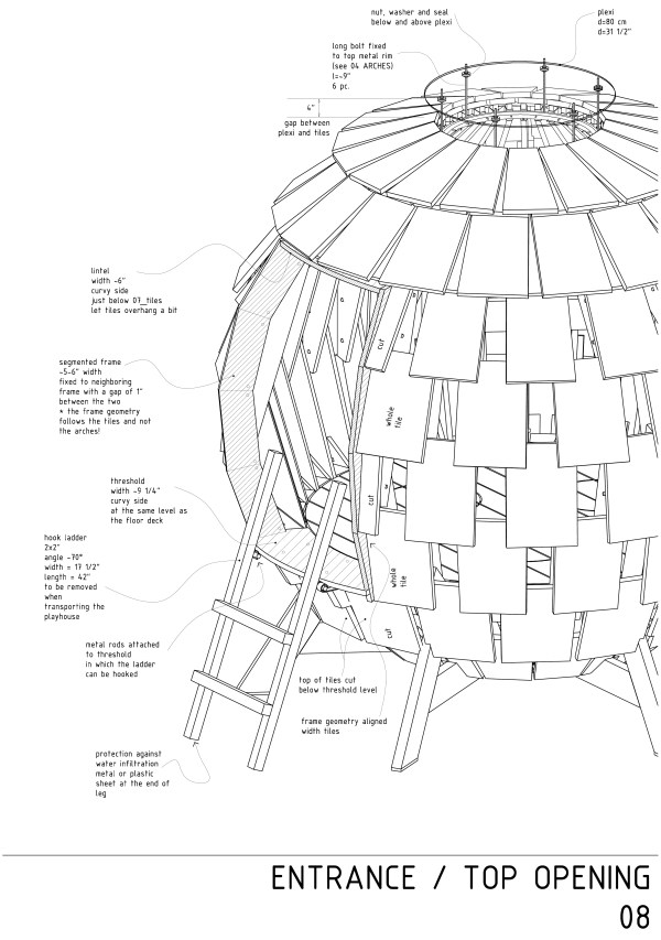 Red Ball construction drawings 03  by Levente Skulteti
