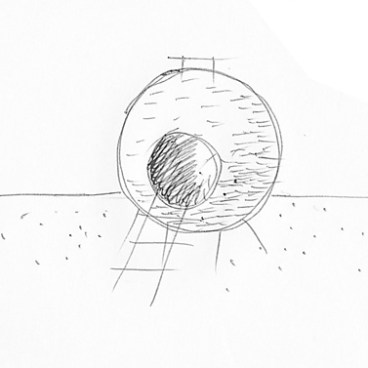 Red Ball Playhouse concept sketch