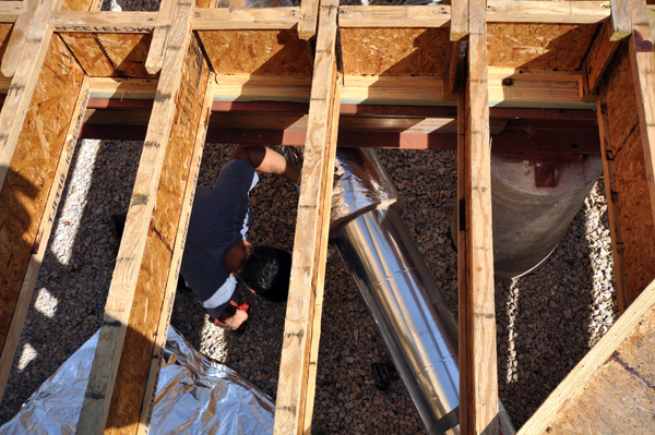 running ductwork under the floor joists