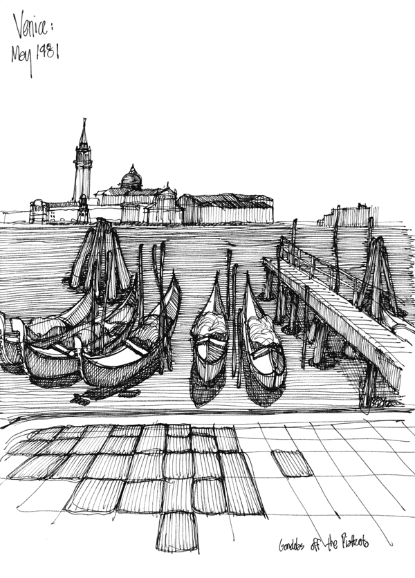 Venice May 1981 - sketch by Michael Malone