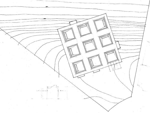 Site Plan - The Cube House by Bob Borson