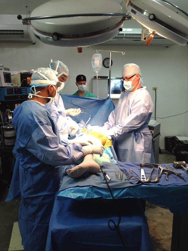 Bob Borson in surgery