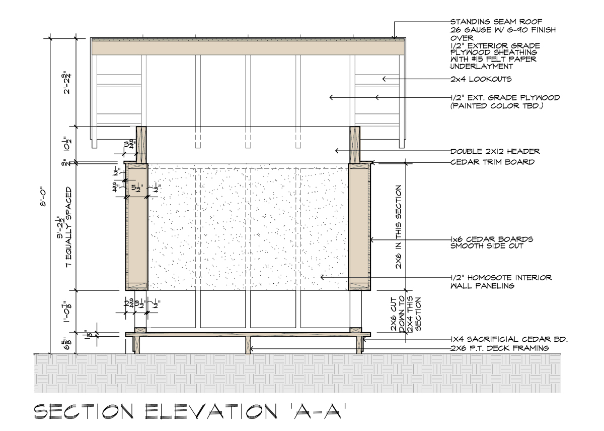 Movie Theater Playhouse CD's A-A Section Elevation