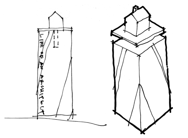 Life of an Architect Original Playhouse Trophy Concept sketch