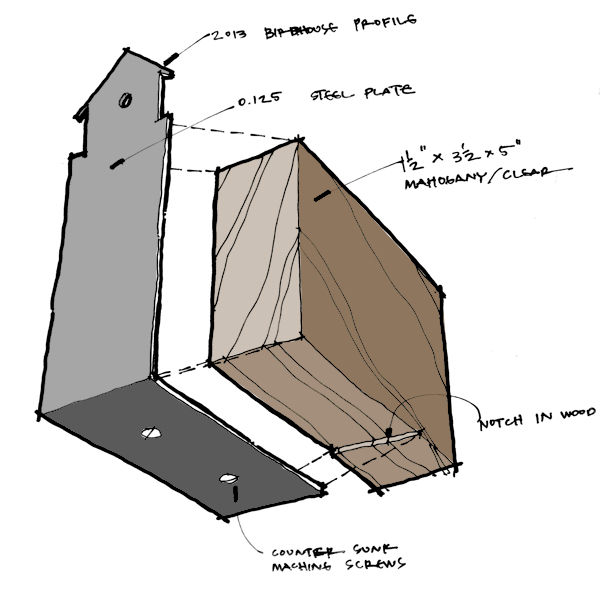 Life of an Architect Playhouse Trophy Concept assembly sketch