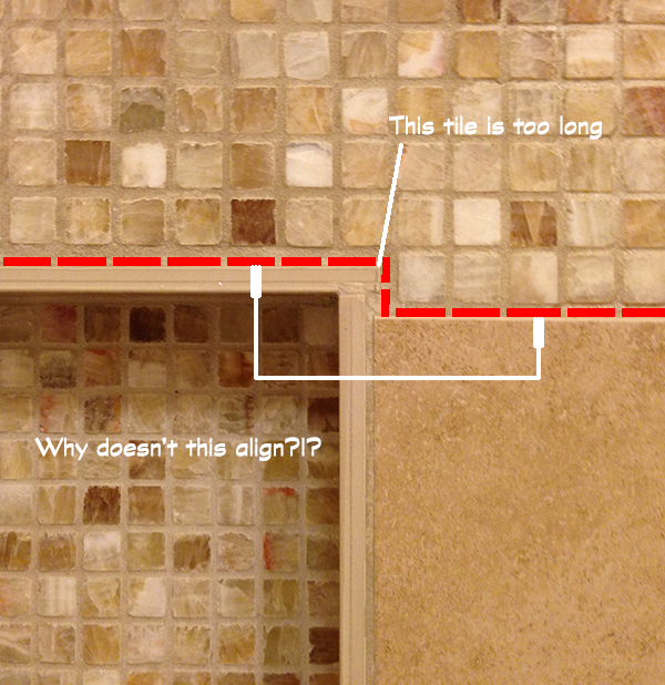Tile Alignment issues drive architects crazy