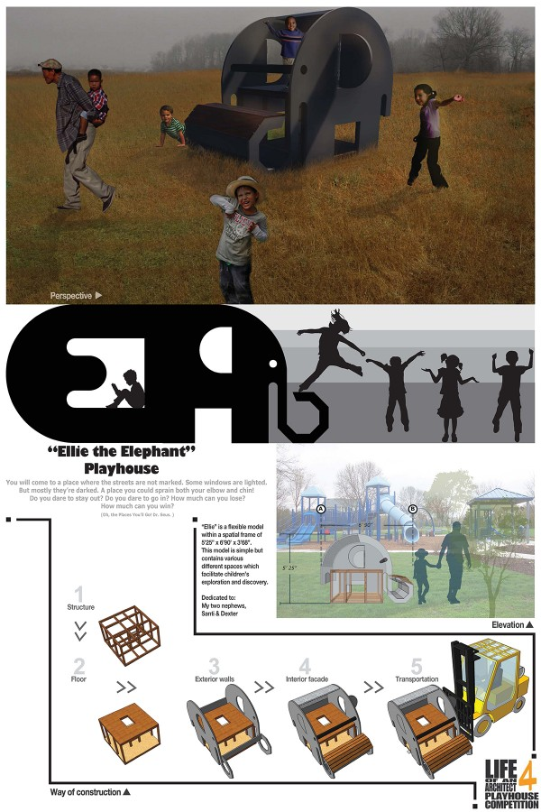 Andres Moreno 2015 Life of an Architect Playhouse Competition Ellie the Elephant entry