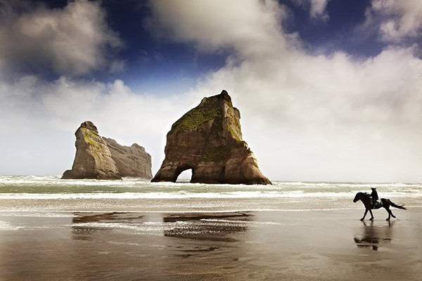 Wharariki Beach at Cape Farewell