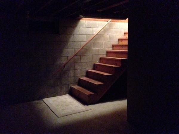 creepy basement stairs