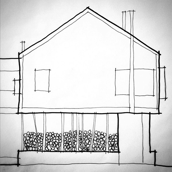 Cabin Elevation sketch