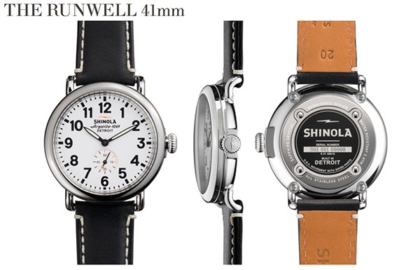 Shinola watch The Runwell 41mm